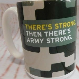 US Army Ceramic Camo Coffee Mug Army Strong 12oz